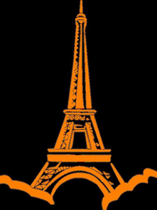 Eiffel Menara Paris Gambar Vektor Gratis Di Pixabay