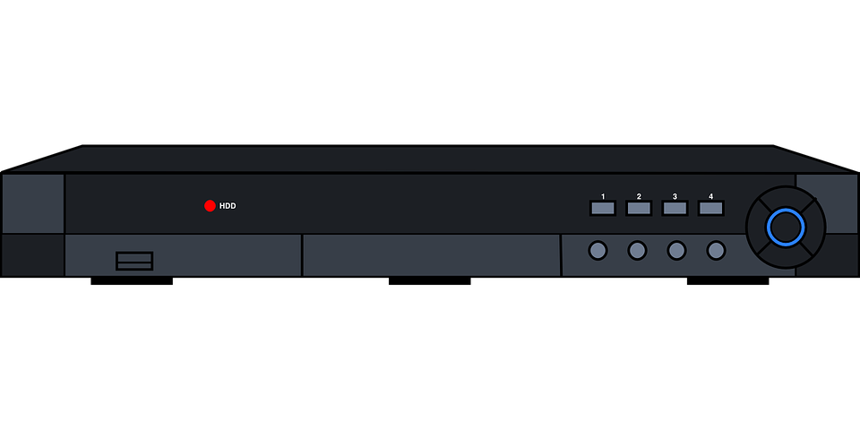 free vector graphic vcr video recorder record tv