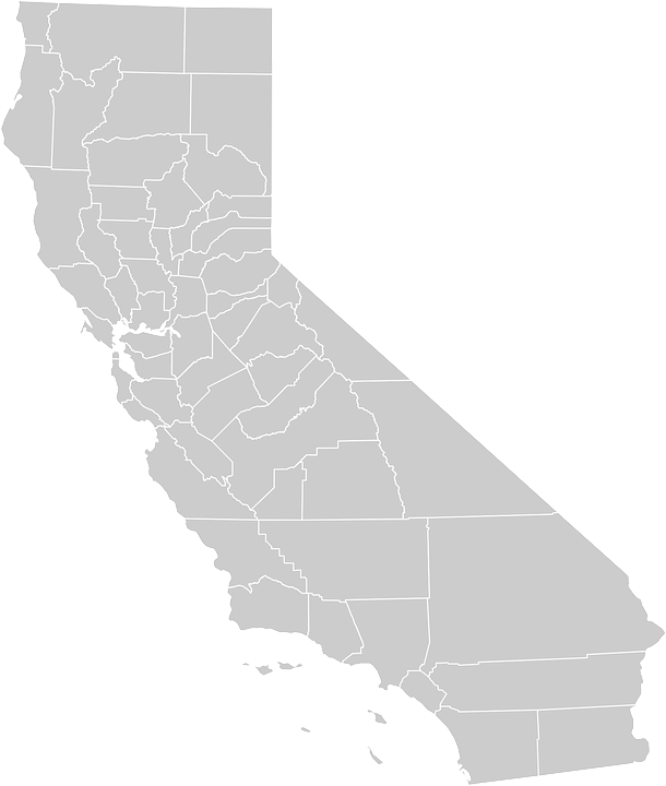 California Map Geography Free Vector Graphic On Pixabay