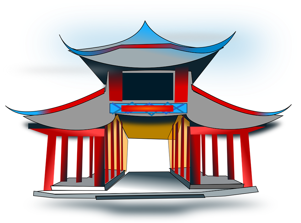 Temple Architecture Pavilion 183 Free Vector Graphic On Pixabay