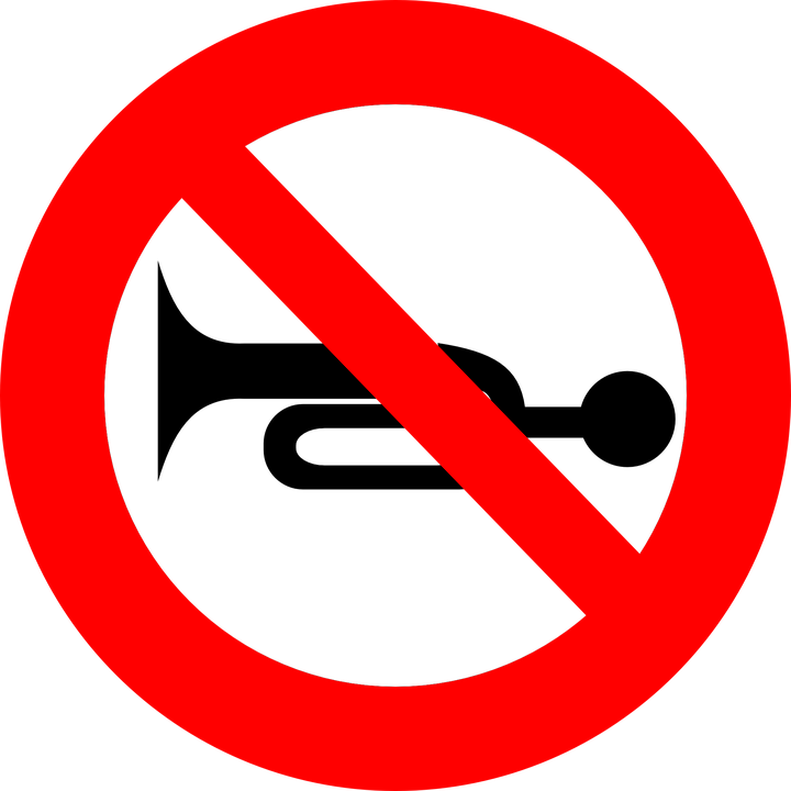 No Honking Stop Icon - Free vector graphic on Pixabay