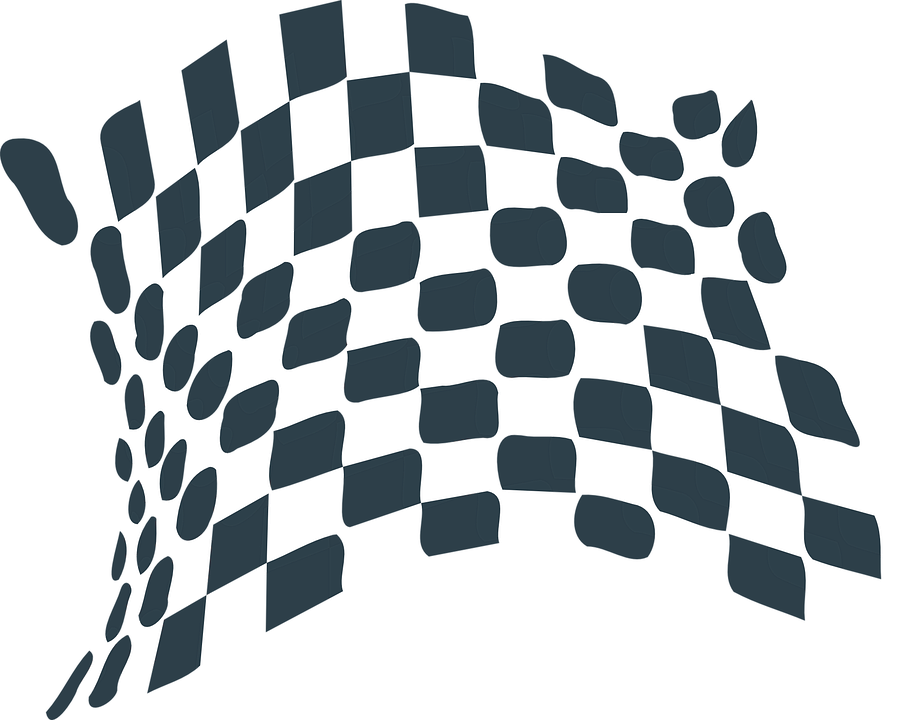 Black And White Race Car Flag Png
