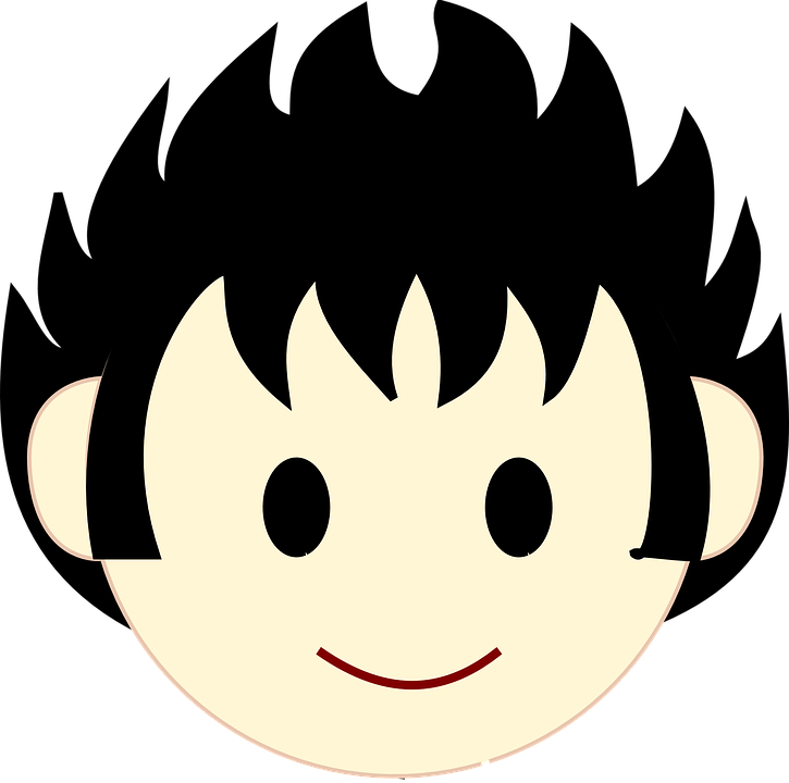 Boy happy face free vector graphic on pixabay boy happy face head black hair round black eyes voltagebd Image collections