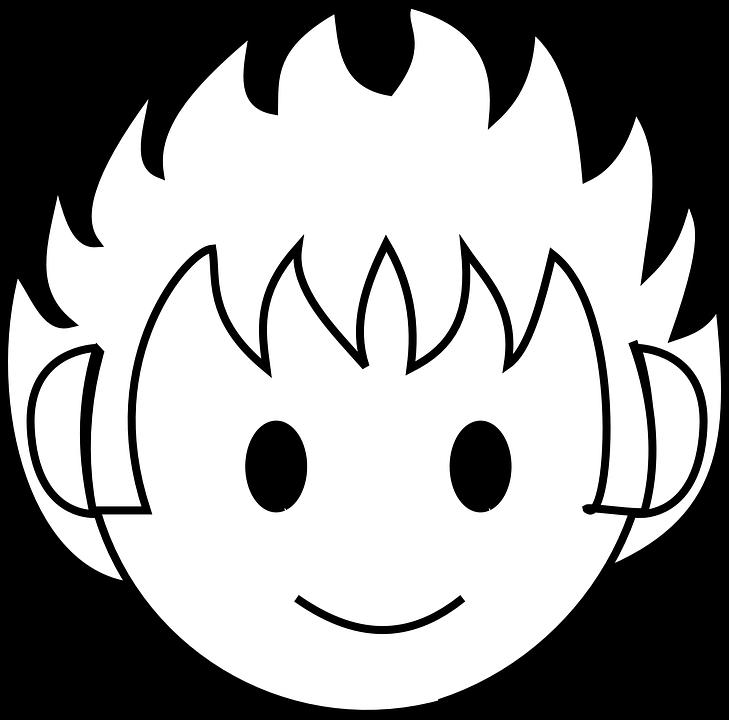 Boy happy face free vector graphic on pixabay boy happy face head black round eyes kid child voltagebd Choice Image