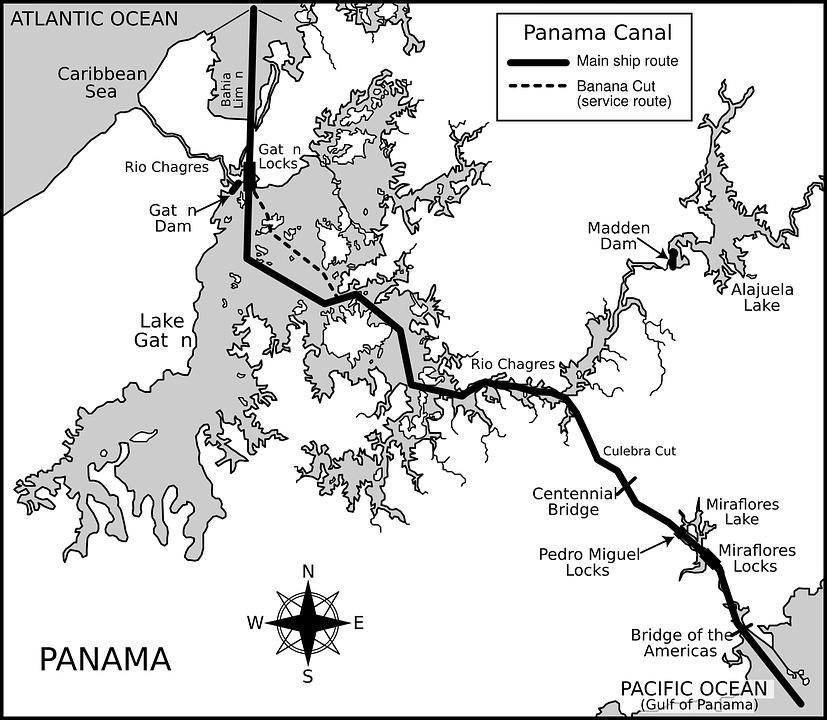 Free Vector Graphic Panama Canal Panama Map Free Image On - Panama map vector