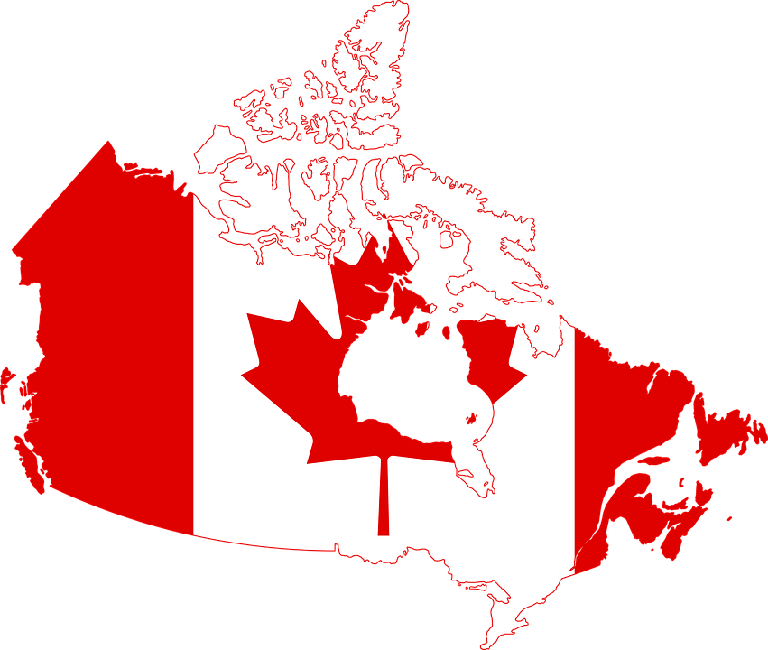 Canada Flag Map Free vector graphic on Pixabay