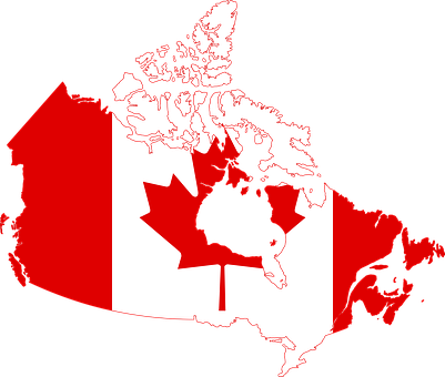 Canada, Flag, Map, Country, Nationality