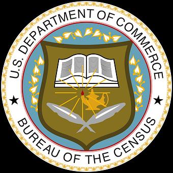 Seal, Bureau, Census, Usa, America