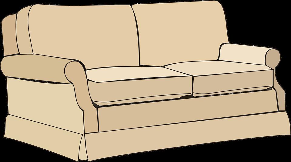Kostenlose Vektorgrafik: Sofa, Möbel, Home, Zimmer