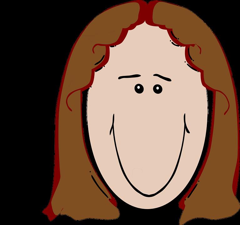 Weiblich, Braunes Haar, Glücklich, Rötlich, Haar
