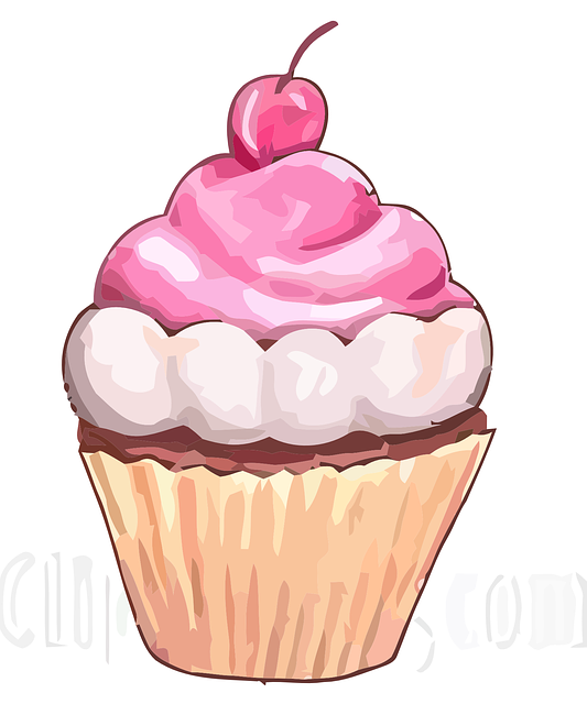 Cake Art Logo : Free vector graphic: Cupcake, Icing, Sweet, Cherry, Food ...