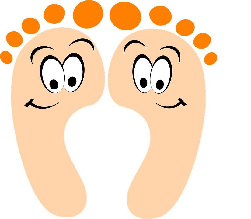 Pedicure Clipart: Free Vector Graphic: Feet, Toes, Pedicure, Eyes, Beauty