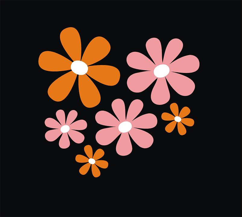 Flores Fondo Negro Floreciente Graficos Vectoriales Gratis En Pixabay