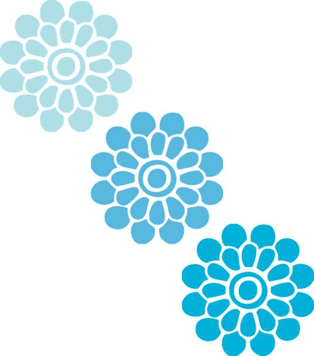 Flowers Blue Three Free Vector Graphic On Pixabay