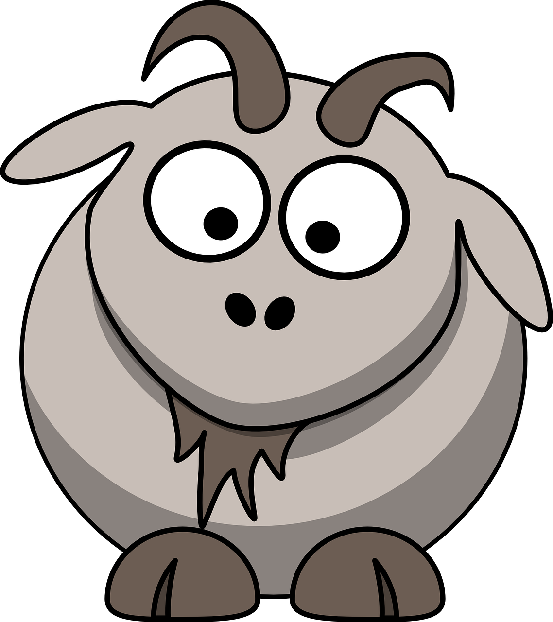 Goat Cartoon Cute Free Vector Graphic On Pixabay
