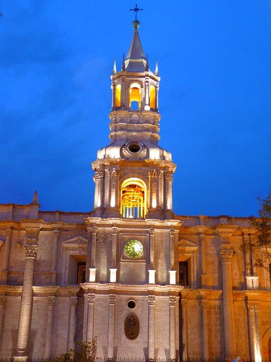 アレキパ, 大聖堂, ペルー, 建物, アーキテクチャ