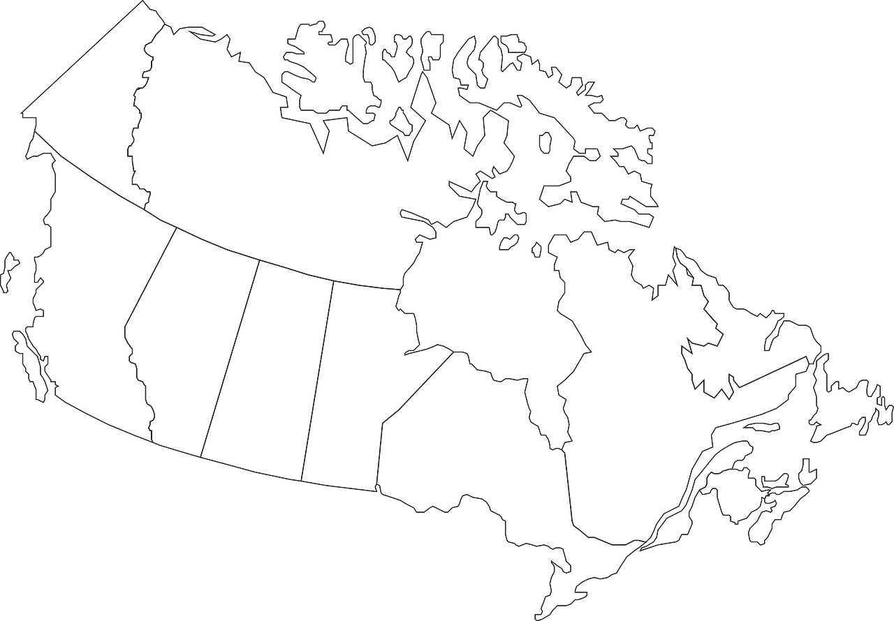 Canada Clear Map Canada Map Geography   Free vector graphic on Pixabay