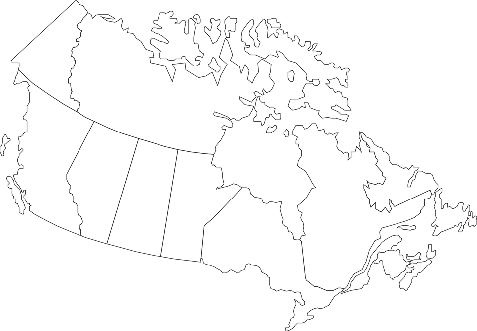 Canada Map Geography Free vector graphic on Pixabay