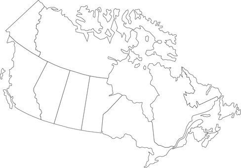 Canada, Map, Geography, Country
