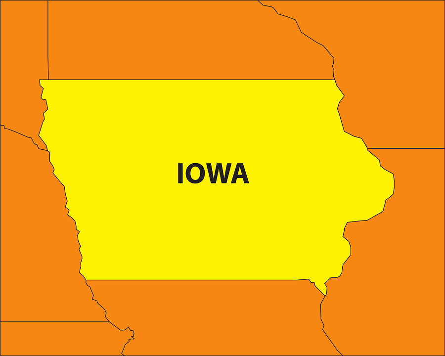 Iowa State Map - Free vector graphic on Pixabay