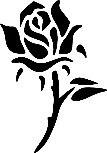 Rose Flower Silhouette · Free vector graphic on Pixabay