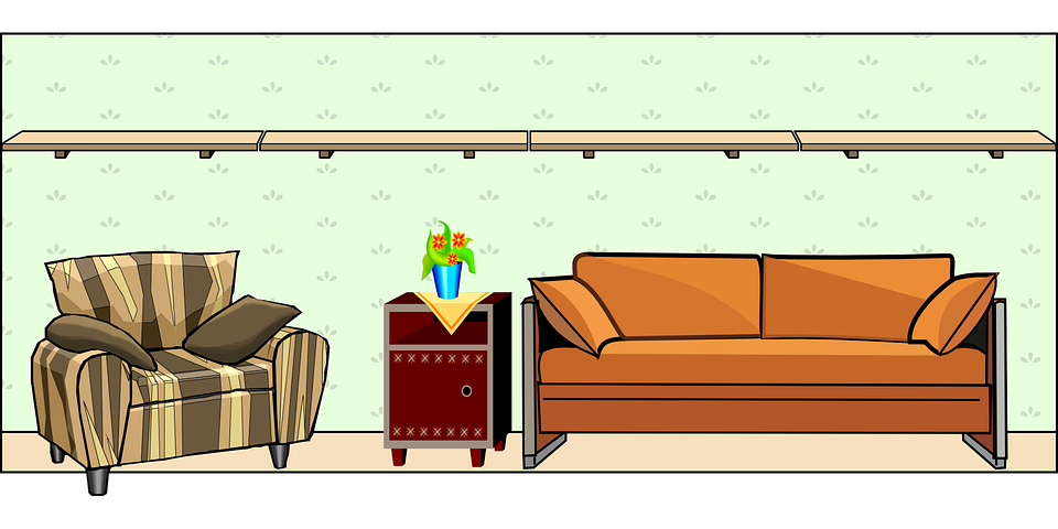Free vector graphic: House, Wall, Table, Room, Chair ...