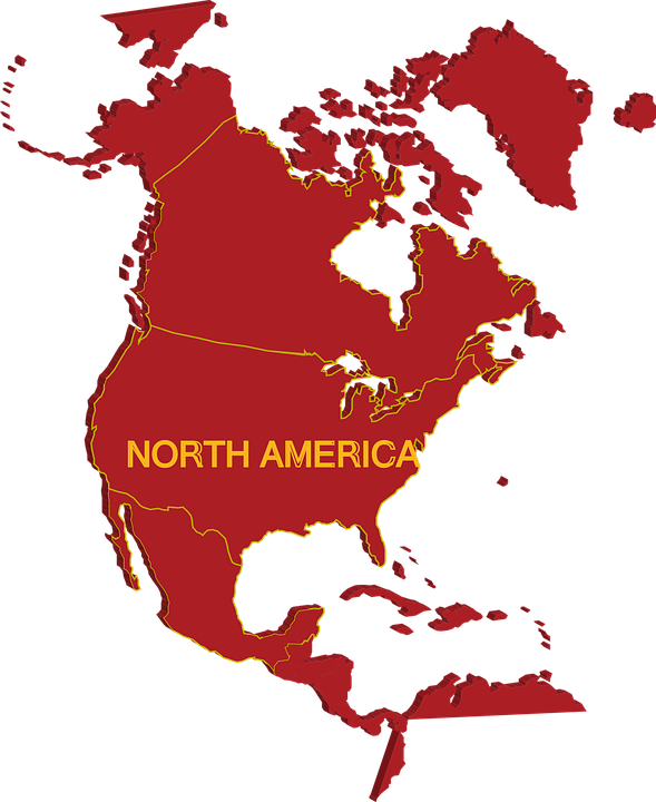 Free Vector Map Of North America.Map North America Free Vector Graphic On Pixabay