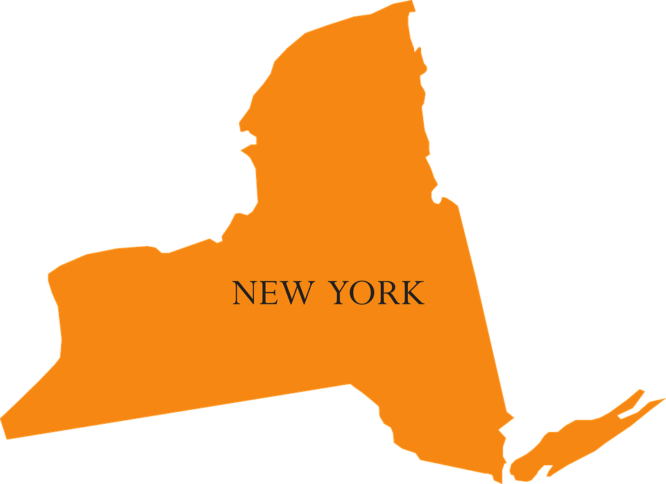 Picture Of New York Map.Map New York Free Vector Graphic On Pixabay