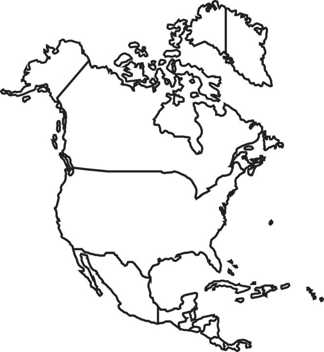 map north america canada usa mexico united
