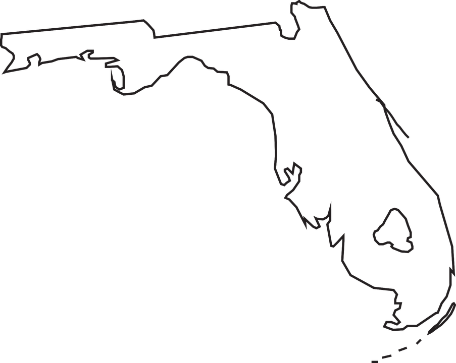 Florida State Map 183 Free Vector Graphic On Pixabay