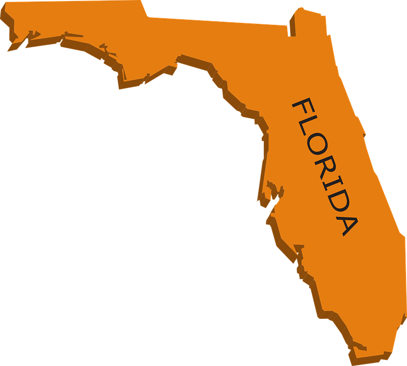 Free Vector Graphic Florida Map Geography State Free Image - Florida map state