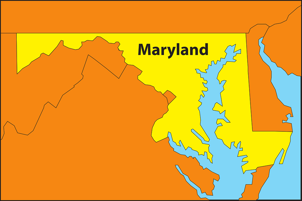 Free Vector Graphic Maryland Map Geography State Free Image - Maryland us map
