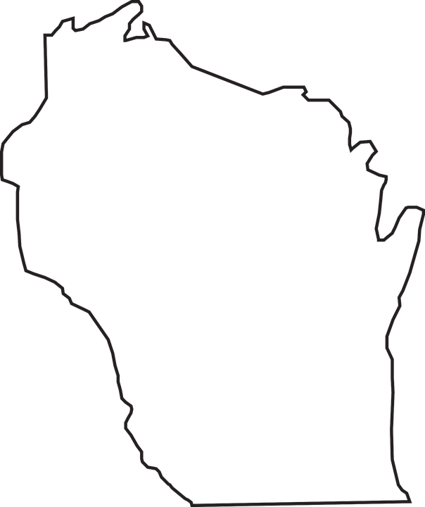 Free Vector Graphic Map State Wisconsin Geography