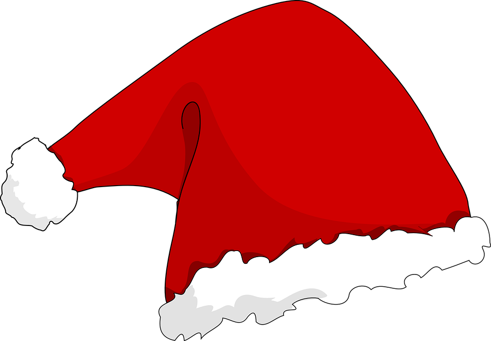 santa s hat santa claus christmas free vector graphic on pixabay rh pixabay com santa hat clip art black and white santa hat clip art images