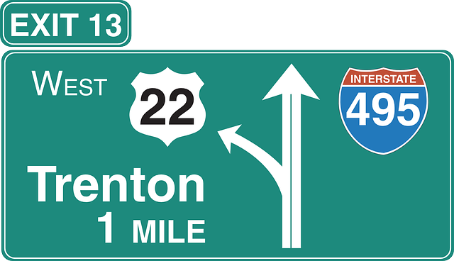 Free vector graphic: Left, Road, Exit, Interstate - Free ... Green Road Sign Png