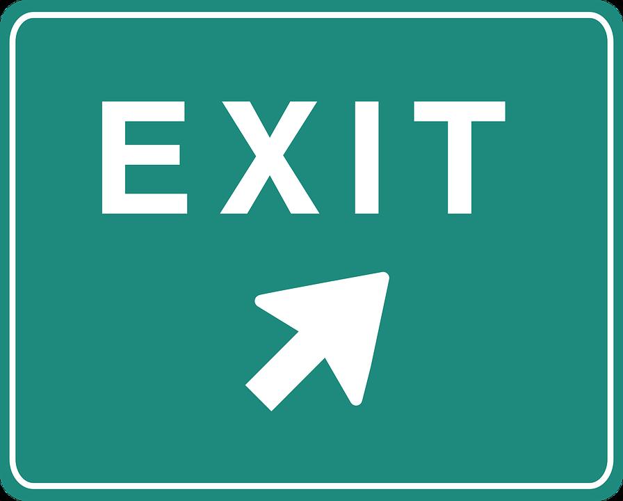 exit sign arrow free vector graphic on pixabay rh pixabay com
