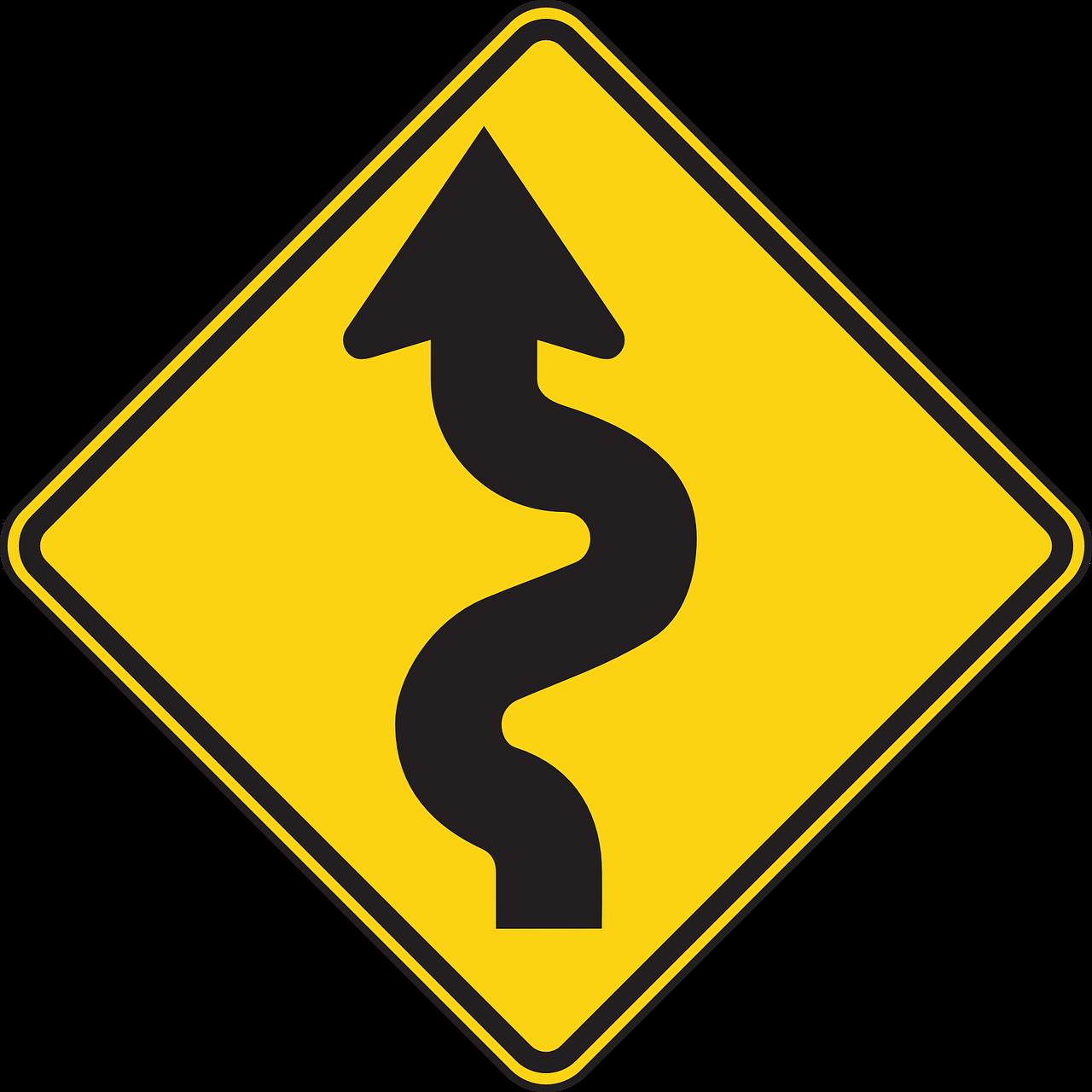 дорожные знаки извилистая дорога картинки вращении