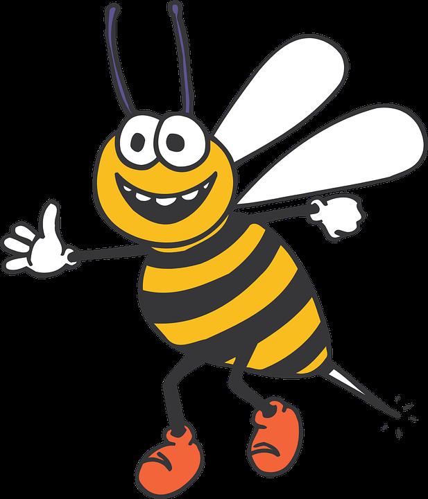 Abeille, Heureux, Insectes, Bandes, Jaune, Black