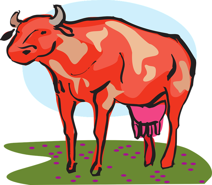 Red Barn Clip Art Transparent free vector graphic: cow, red, barn, farm, animal - free image on