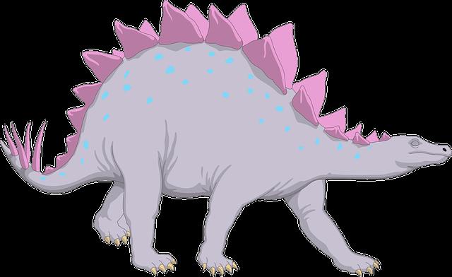 Free Vector Graphic Purple Dinosaur Stegosaurus Free