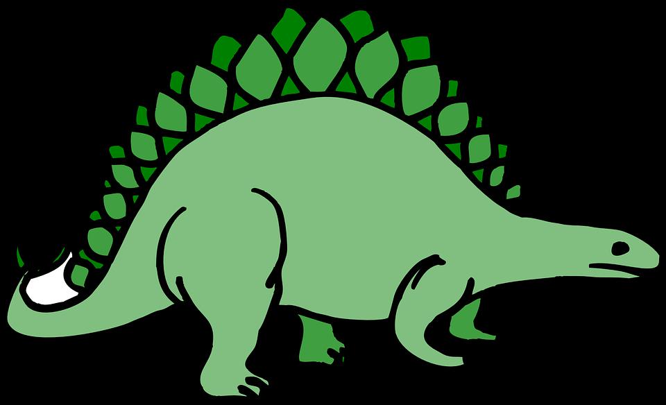 Dinozor Stegosaurus Antik Pixabayda ücretsiz Vektör Grafik