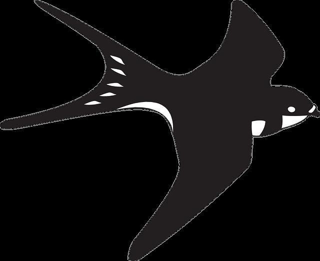 kostenlose vektorgrafik schwarz wei vogel fliegen kostenloses bild auf pixabay 45697. Black Bedroom Furniture Sets. Home Design Ideas