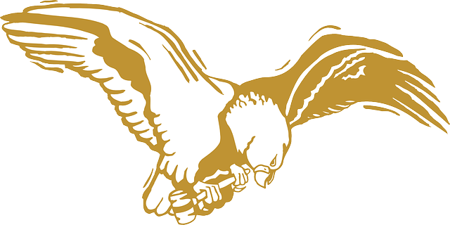 Free Vector Graphic: Eagle, Bird, Gold, Wings, Feathers