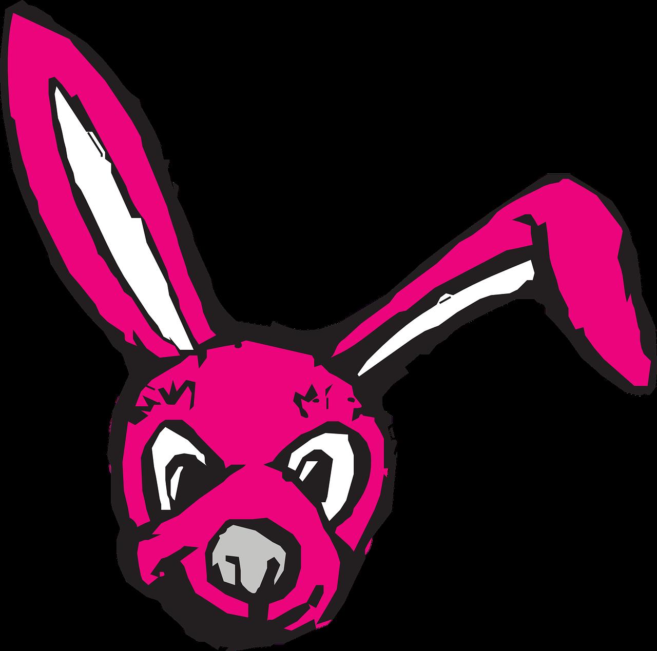 Картинки зайца розового