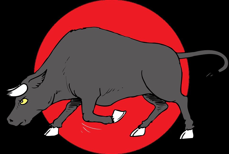 Immagine vettoriale gratis carica toro le corna