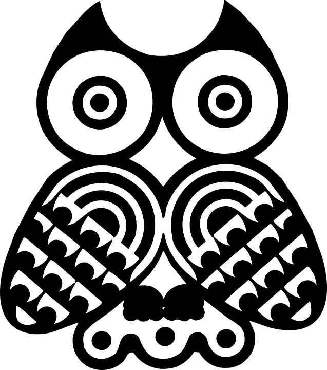 Owls Bird Black Free Vector Graphic On Pixabay