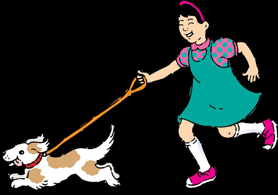 girl running pet free vector graphic on pixabay rh pixabay com