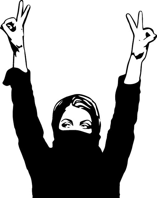 image vectorielle gratuite femme fanatisme r233volution
