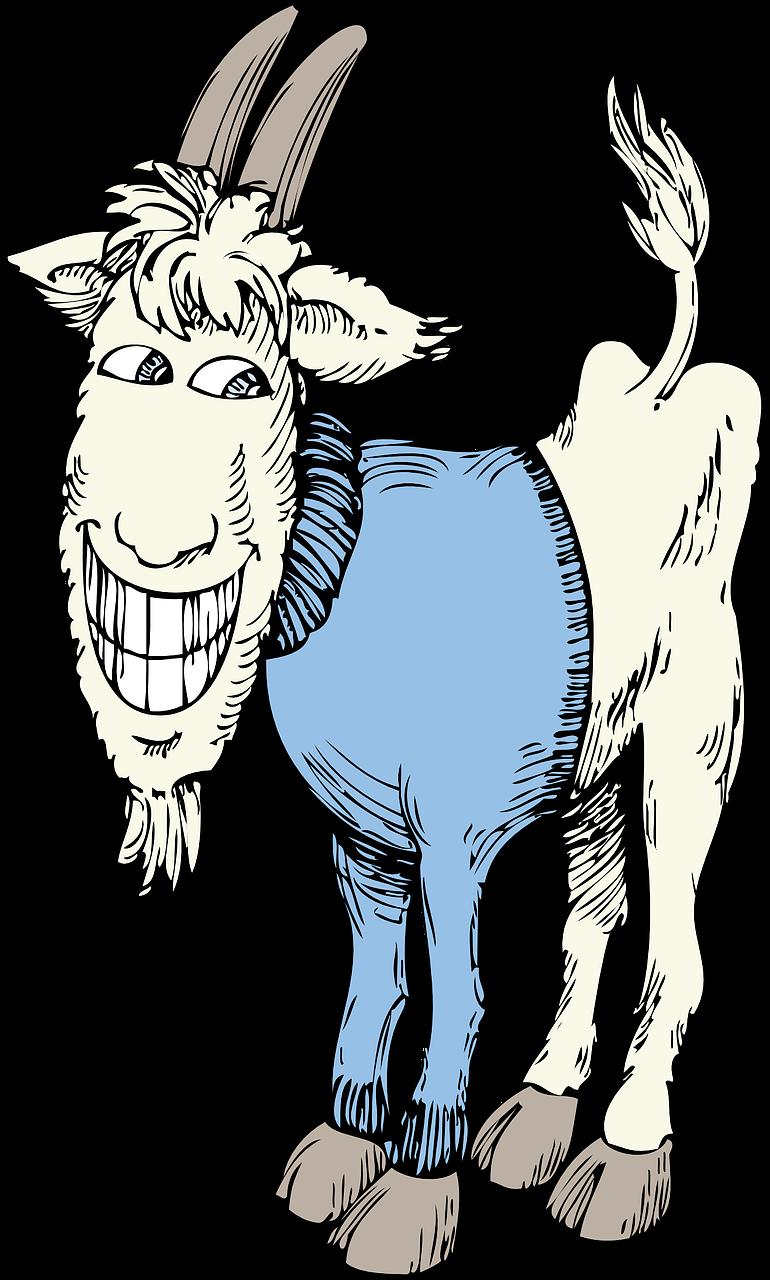 Рисунки смешная коза