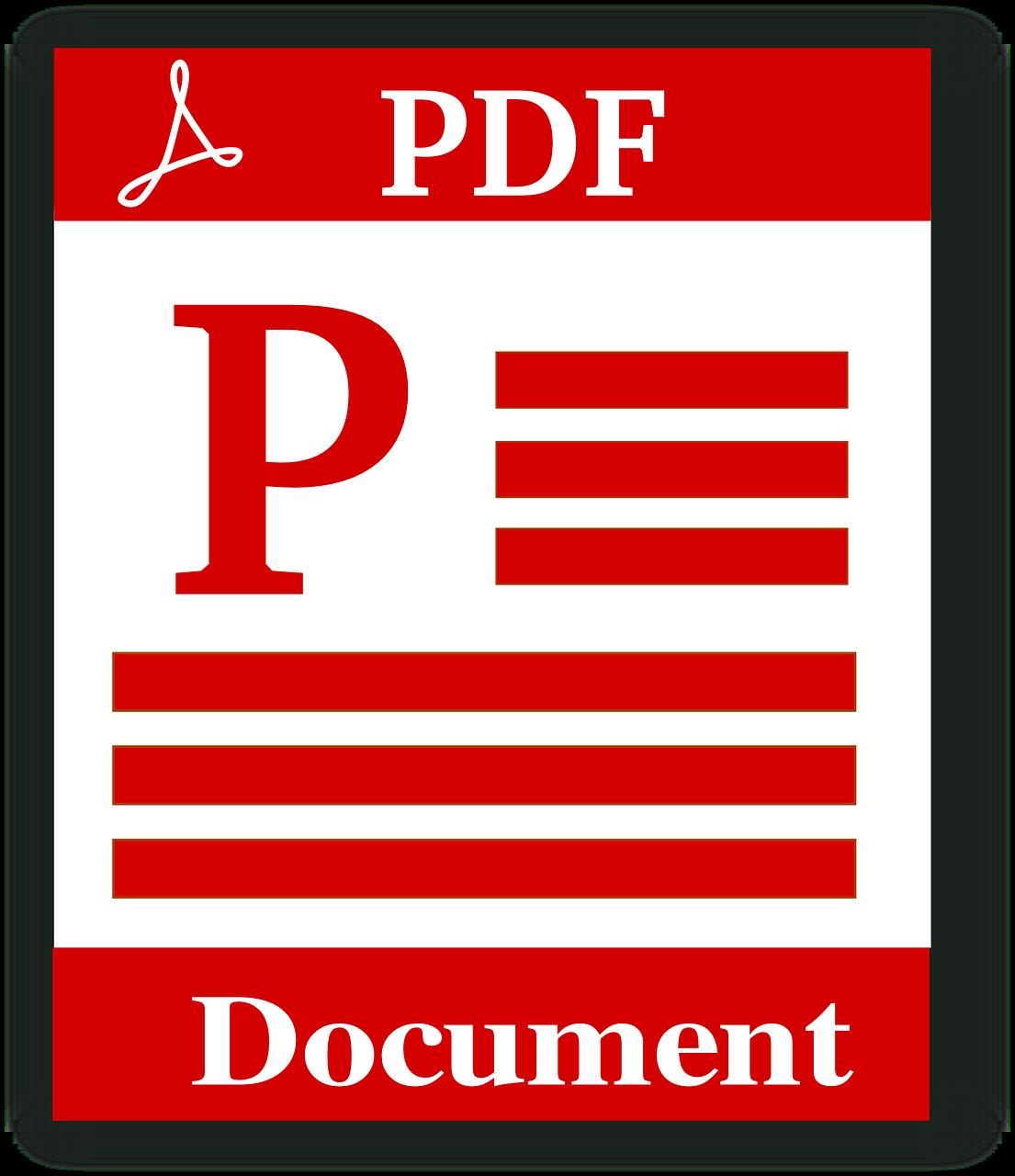 Pdf Documento Ícone - Gráfico vetorial grátis no Pixabay